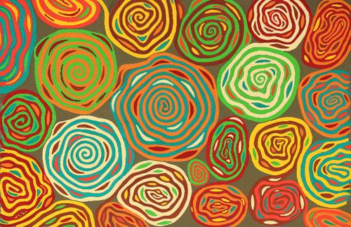 Spirales entrelacées