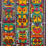 Triptyque masques africains
